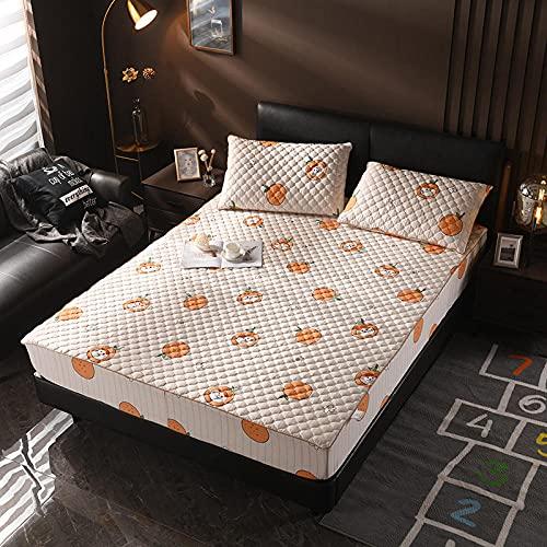 XGguo Protector de colchón - Protector de colchón antialérgico Sábana más Gruesa de una Sola Pieza antideslizante-11_150 × 190cm
