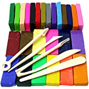 H&S Polymer Clay 650g 26 Colours Oven Bake Polymer Clay Block Modelling Moulding Sculpey Tool set