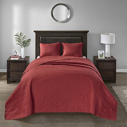 Vancouver Full 3pc Reversible Bedspread Set Red