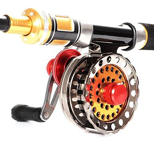 x-speed Carretes De Pesca De Metal Ruedas De Varilla De Válvula Carretes Giratorios para Actividades Recreativas Al Aire Libre (Color : Silver, Size : R)