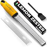 Premium Classic Series Zester & Grater - Professional Kitchen Zester for Lemon, Chocolate, Cheese, Ginger, Vegetables - Spice Up any Kitchen Dish in Seconds with Your Premium Hand Held Shredder