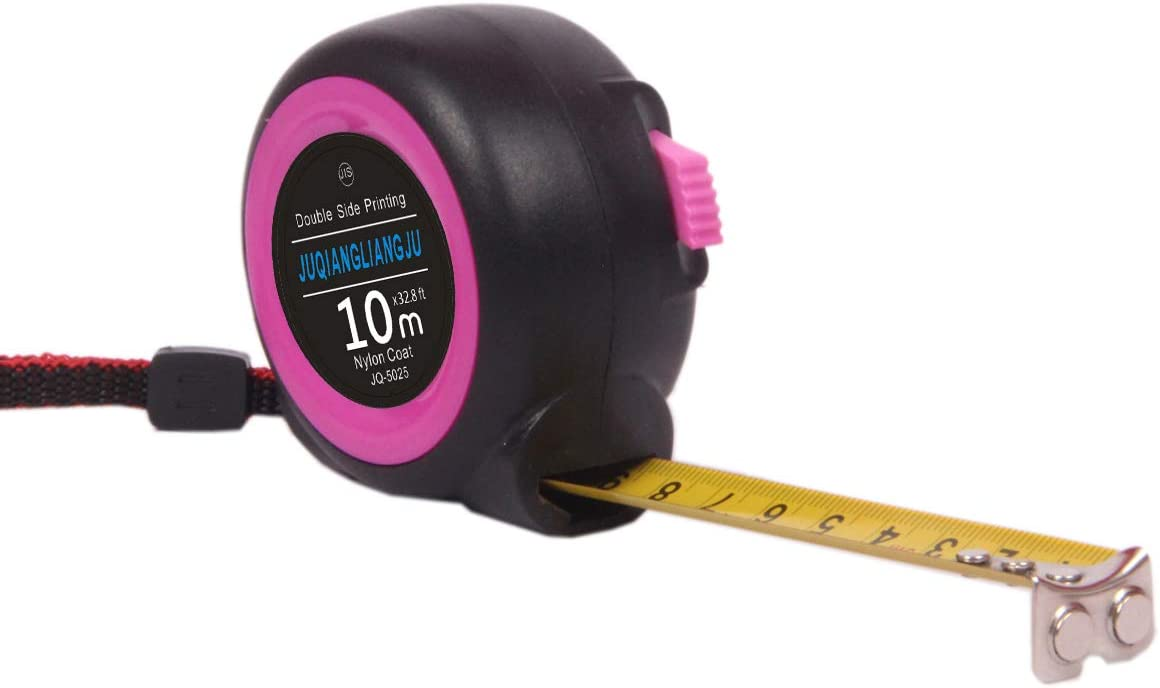 Tape Measure Retractable Measuring Tape For Home Construction And DIY Projects Contractor Carpenter Architect With Both-Side Metal Blade Magnetic Tip Hook And Shock Absorbent Measure 1, 24.6//7.5m