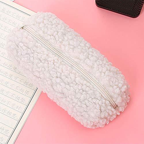 NYWENY Bolsa de almacenamiento, funda de lana, bonita, colorida y simple, bolsa de almacenamiento para estudiantes, estuche para lápices