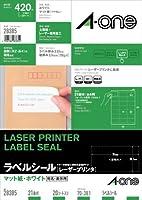 エーワン レーザープリンタラベル21面20入 28385 00011902【まとめ買い3パックセット】