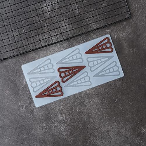 RTYY Aushöhlen Dreieck Form Silikon Schokoladenform Kuchen Dekorieren Transferform Kuchen Top Dekotation DIY Garnieren