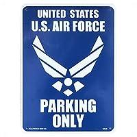 AMERICAN プラスチックサインボード 駐車場スペース 案内 (CA-28 U.S.A.F PARKING ONLY)
