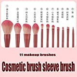 Jieqiong Conjunto de Cepillo de Maquillaje de 11 Herramientas de Maquillaje Conjunto de Maquillaje Super Suave,Rosado,Set of Brushes