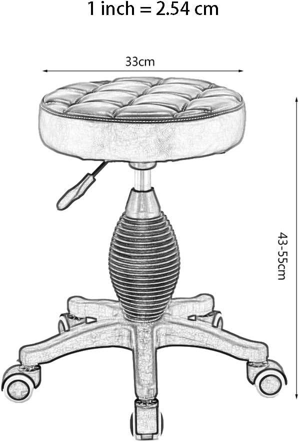 Xiao Jian- Tabouret Ongles Fauteuil Beauté Moderne Minimaliste Rotatif Levable Barber Shop Salon De Beauté Accueil Chaise Bar tabourets (Couleur : Burgundy) Blanc