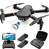 4DRC V4 Foldable Drone with 1080p FPV HD Camera for Adults and Kids, RC Quadcopter with Altitude Hold, Headless Mode,App Control, Trajectory Flight ,2 Modular Batteries, Includes Carrying Case