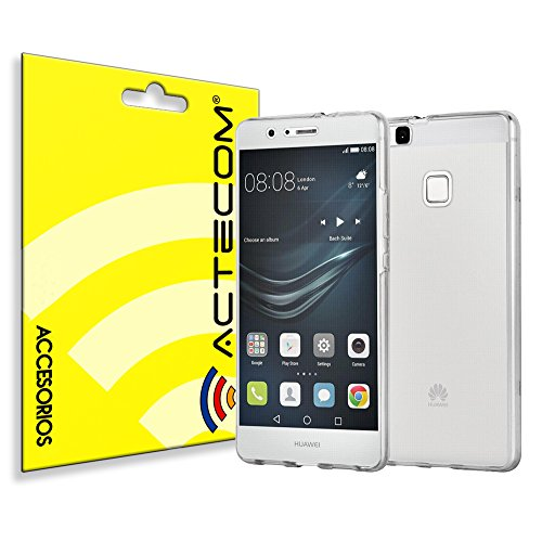 actecom® Funda 360 Doble Gel Silicona Transparente para Huawei P9 Lite Delantera Y Trasera