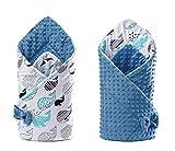 Saco de dormir para bebé, manta de bebé, saco de cochecito universal, manta de bebé de invierno, edredón para cuna, manta de cuna, swaddle, cosido a mano y fabricado en Europa - Momimò-