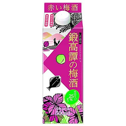 合同酒精『鍛高譚の梅酒 赤しそ梅酒 カロリーオフ』
