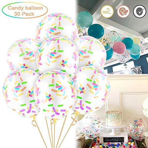 Sunshine smile konfetti Luftballons bunt,konfetti Luftballons Set,konfetti Luftballons durchsichtig,Ballons konfetti,Ballons bunt Kinder,konfetti Luftballons für Party Hochzeit Geburtstag