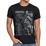 style3 Dualshock Controlador Camiseta para Hombre T-Shirt PS Videojuego videoconsola, Talla:M, Color:Negro