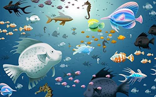 KCHUEAN Puzzle 1000 Teile Kreativität DIY Puzzles Imagine Toys Fisch Holz Montage Dekoration für Zuhause Spielzeug Spiel pädagogisches Spielzeug für Kinder und Erwachsene