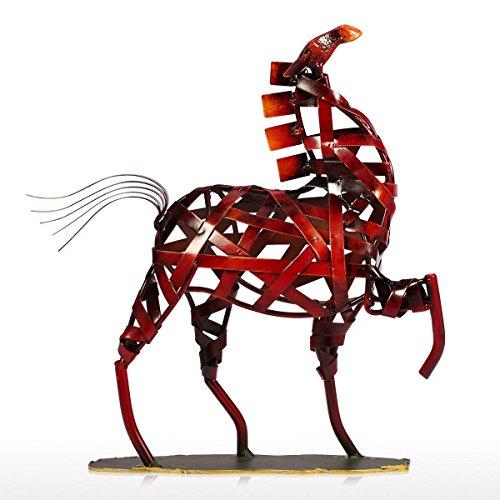 DeepBlue Metalen beeldje Moderne Metalen Vintage Home Decoratie Weven Paard Beeldje Handwerk Dier Ambacht Cadeau voor Thuis Kantoor