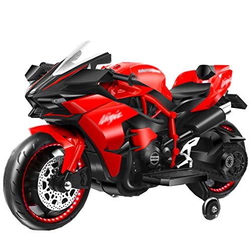 Ride on Toy, Triciclo De Motocicleta De 3 Ruedas para Niños, con Pilas, Juguetes para Niños Y Niñas, De 2 A 5 Años,Rojo