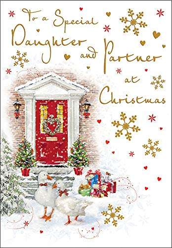 Regal Publishing Traditional Christmas Card Daughter & Partner - 9 x 6 inches