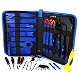 60Pcs Trim Removal Tool,Car Panel Door Audio Removal Tool Kit, Auto Clip Pliers Fastener Remover Pry Tool Set with Storage Bag