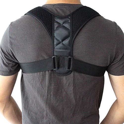 DFBGL Corrector de Postura de Espalda Ajustable Columna Vertebral Espalda Hombro Soporte Lumbar Cinturón Corrección de Postura Espalda Desnuda (Color: Transparente, Tama & ntilde; o: Med