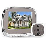 Video Doorbell, 4.3 inch Smart Door Viewer with 720P Screen, Wireless Video Doorbell, Security Doorbell with IR Night Vission & Motion Detection, for Home Security