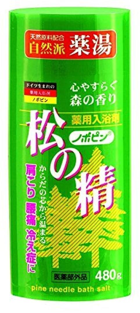 コマース生む受取人紀陽除虫菊 ノボピン 薬用入浴剤 松の精 480gボトル【まとめ買い20個セット】 N-0027
