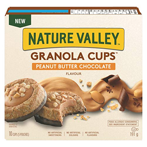 NATURE VALLEY Granola Cups Peanut Butter Chocolate Flavour, 5 Count
