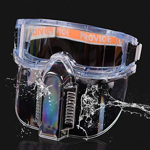 Veiligheidsbril, veiligheidsbril, bril, spatbescherming, stofbescherming, winddicht en zandbestendig. Lunettes Détachables + Écran Facial