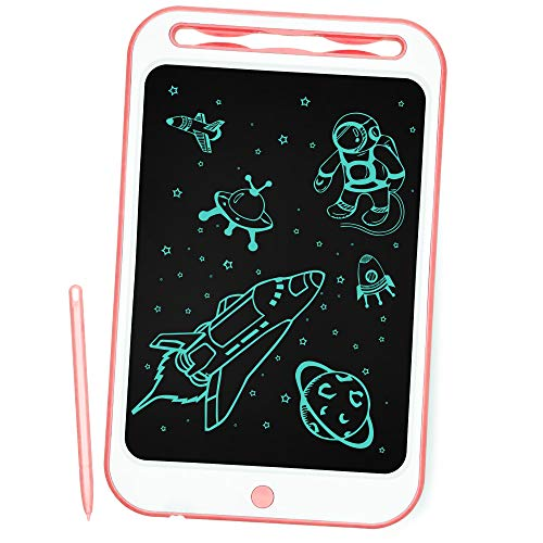 Richgv Tableta de Escritura, 10 Pulgadas Tablet de Pintar Niños,Electrónica Gráfica Portatil Tableta de Dibujo Digital Color, Escribir Dibujar Notas para Clase Oficina Casa (10 Pulgadas, Rosa-A)