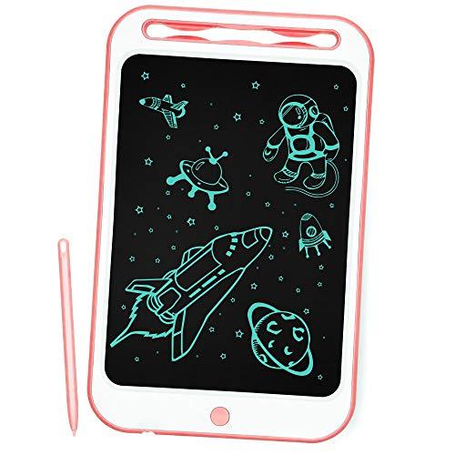 Richgv Aggiornato LCD Writing Tablet, 10 Pollici Elettronico Tavoletta Grafica Digitale Scrittura, Ewriter Paperless Disegno Pad con Memoria di Blocco per Bambini della Casa Scuola Ufficio(Rosa)