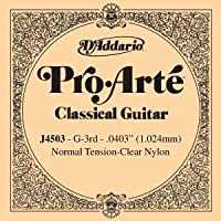 CUERDA SUELTA GUITARRA CLASICA - Dエaddario (J/4503) Pro/Arte Normal (Minimo 5 Cuerdas) 3ェ