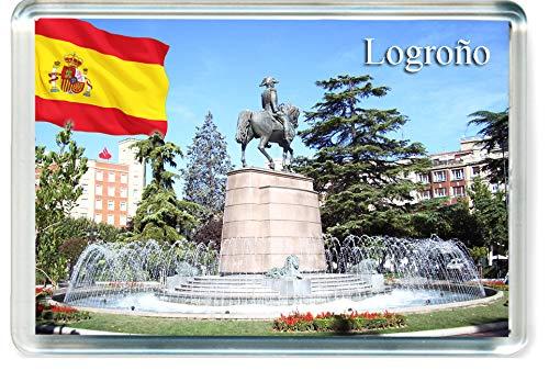 H322 Logroño Imán para Nevera Spain Travel Fridge Magnet