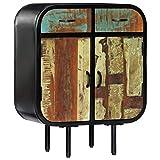 vidaXL Aparador Comedor Buffet 2 Cajones + 2 Puertas Vintage Retro Industrial Madera Maciza Reciclada Hierro Mueble Bufé Salón Cocina Armario Bufet