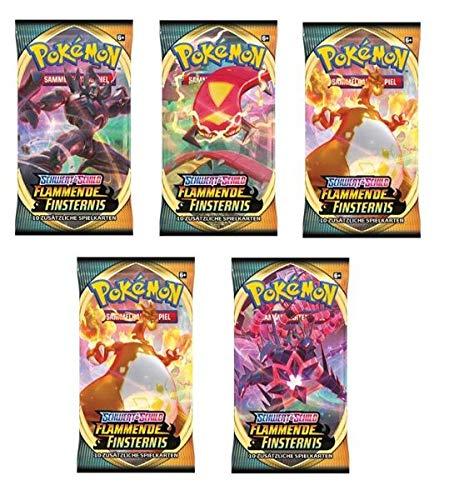 Pokemon Flammende Finsternis 6X Booster Deutsch