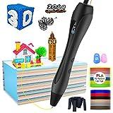 3D Stift für Kinder,OLICTAR 3D Druckstift mit 12 Farben 1,75mm 120ft PLA Filament LCD Display 3D...