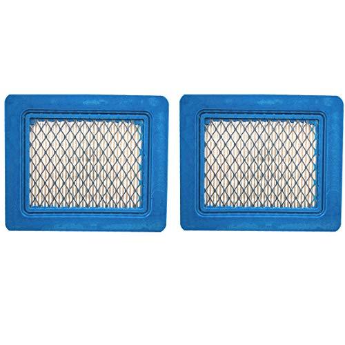 2 Pack 491588S Flat Air Filter Cartridge for Briggs & Stratton 491588 399959 4942245 4915885 3.5-6.5 HP Quantum Engines Push Mower Lawn Mower Air Filter