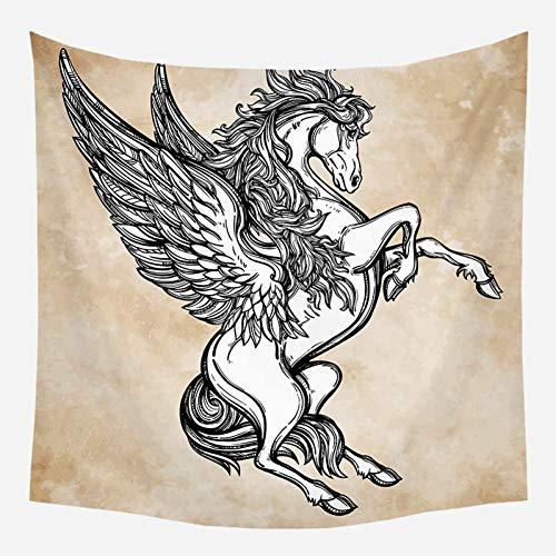 ZWBBO wandtapijt, schimmel met vleugels, mandala, Fantastisch Boheemse deken, stof, wandbehang, decoratie (150 x 200 cm)