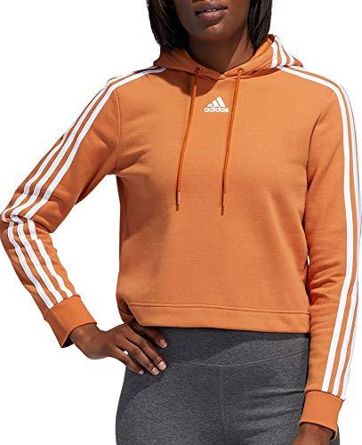 adidas Damen Post Game Cropped Hoodie, Damen, Tech Copper/Weiß, Small