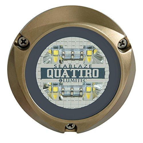 Lumitec Lighting 101510, LED Underwater Light, SeaBlaze Quattro Underwater Light, Spectrum Full-Color RGBW
