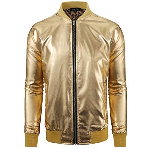 Gold Bomber Jacket Men