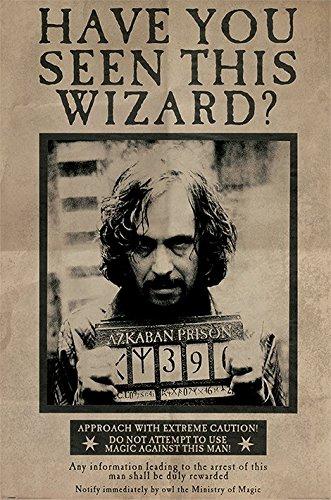 Póster de Harry Potter y el prisionero de Azkaban, diseño de la película Wanted: Sirius Black (tamaño: 24 x 36 pulgadas)