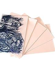 "Kalolary Tattoo Practice Skins, 10Pcs 8x6""Double Sides Practice Fake Skin Tattoo Skin Practice for Nybörjare Artister Tattoo Practice"