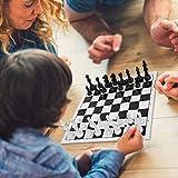 BHDD Ajedrez Internacional de plástico, Juego de ajedrez Internacional portátil Plegado de plástico fácil de Llevar, para Actividades de Fiesta en casa(Transparent)