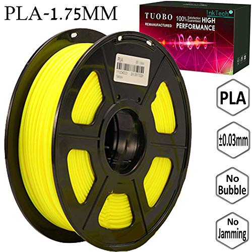 Tuobo PLA Filament 1.75mm Yellow 3D Printer Consumables, 1kg Spool (2.2lbs), Dimensional Accuracy +/- 0.05 mm, Fit for Most DIY Printer and 3D Pen