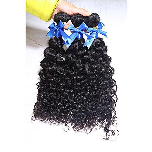 Meylee Postiches Meylee cheveux vierges Maylasian 6 a vague profonde vague profonde 3 faisceaux 100G/PC 100 % cheveux humains brésiliens Extensions 14 16 18