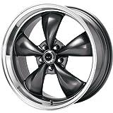 American Racing Custom Wheels AR105 Torq Thrust M Anthracite Wheel With Machined Lip (16x7'/5x114.3mm, +35mm offset)