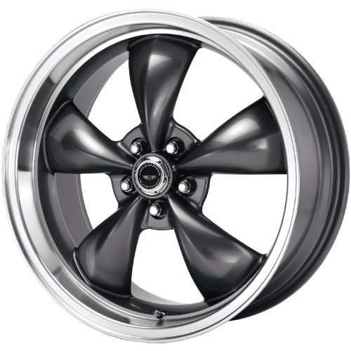 American Racing Custom Wheels AR105 Torq Thrust M Anthracite Wheel With Machined Lip