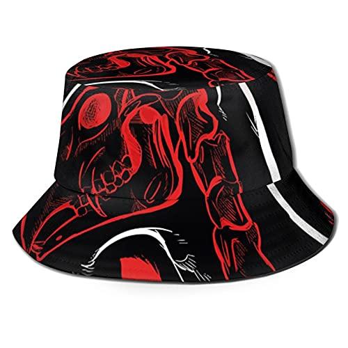 The Demon Sleeps Kopfkissen Sonnenhut Bucket Style Herren und Damen Faltbarer Fischerhut Strandhut Sonnenschutz