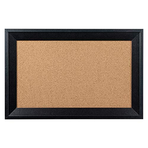 HBlife Cork Board Bulletin Board 11 x 17 Inch with Black Frame Rectangle Decorative Hanging Pin Board Perfect Decor for Office & Home,Message Board or Vision Board