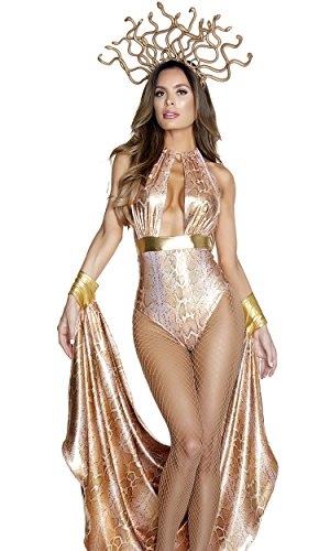 Forplay Women's Slither Sexy Medusa Costume, Gold, S/M